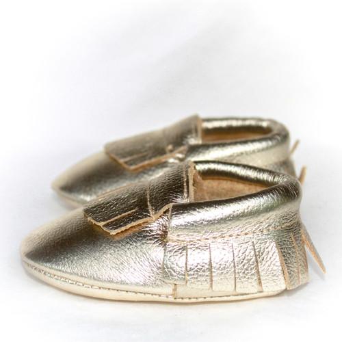 Moccasins - Gold Foil