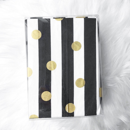 Changing Pad Cover - Stripes & Gold Dots