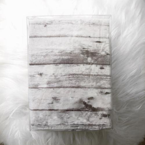 Changing Pad Cover - Slate Hardwood Floor