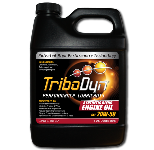 TriboDyn (Patented) 20W-50 Synthetic Blend Engine Oil - 1 Quart (946mL)