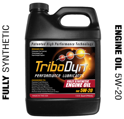 TriboDyn (Patented) 5W-20 Fully Synthetic Engine Oil - 1 Quart (946mL)