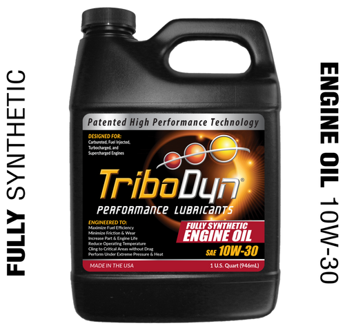 TriboDyn (Patented) 10W-30 Fully Synthetic Engine Oil - 1 Quart (946mL)