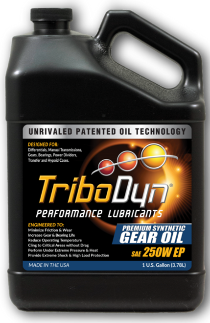 TriboDyn (Patented) 250W-EP Full Synthetic Gear Oil - 1 Gallon