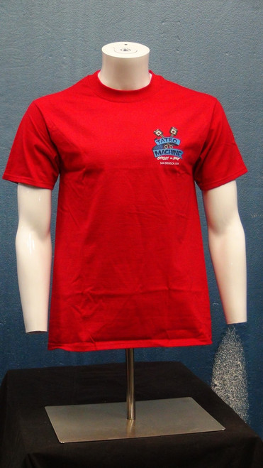 HNSS Hanes Beefy T Short Sleeve T-Shirt 6oz 100% Cotton with Back Tatro Machine Logo