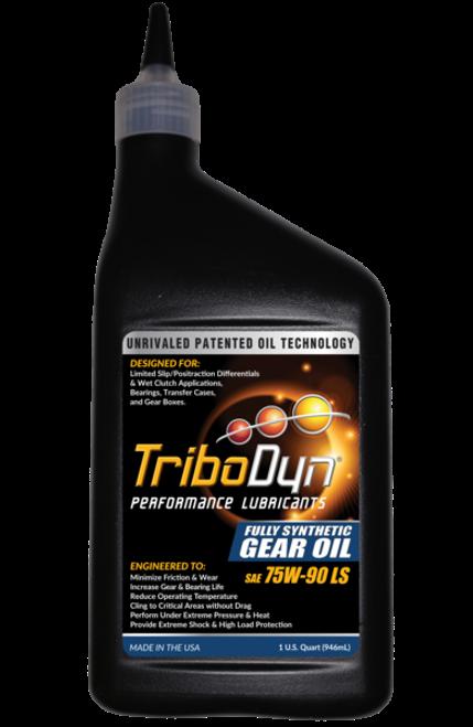 TriboDyn (Patented) 75W-90 LS Limited Slip Clutch Fully Synthetic Gear Oil - 1 Quart (946mL)