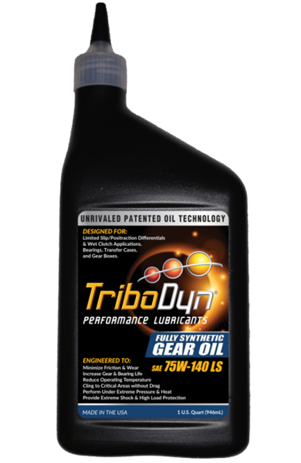 TriboDyn (Patented) 75W-140 LS Limited Slip Clutch Fully Synthetic Gear Oil - 1 Quart (946mL)