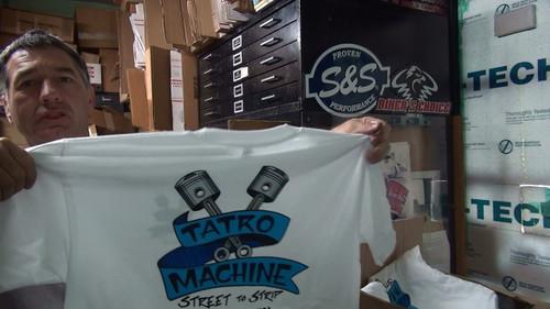 HNSSP Hanes Beefy T Short Sleeve Pocket T-Shirt 6oz 100% Cotton with Back Tatro Machine Logo
