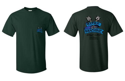 Hanes Beefy-T T-Shirts + 6oz 100% Cotton with Back Tatro Machine Logo