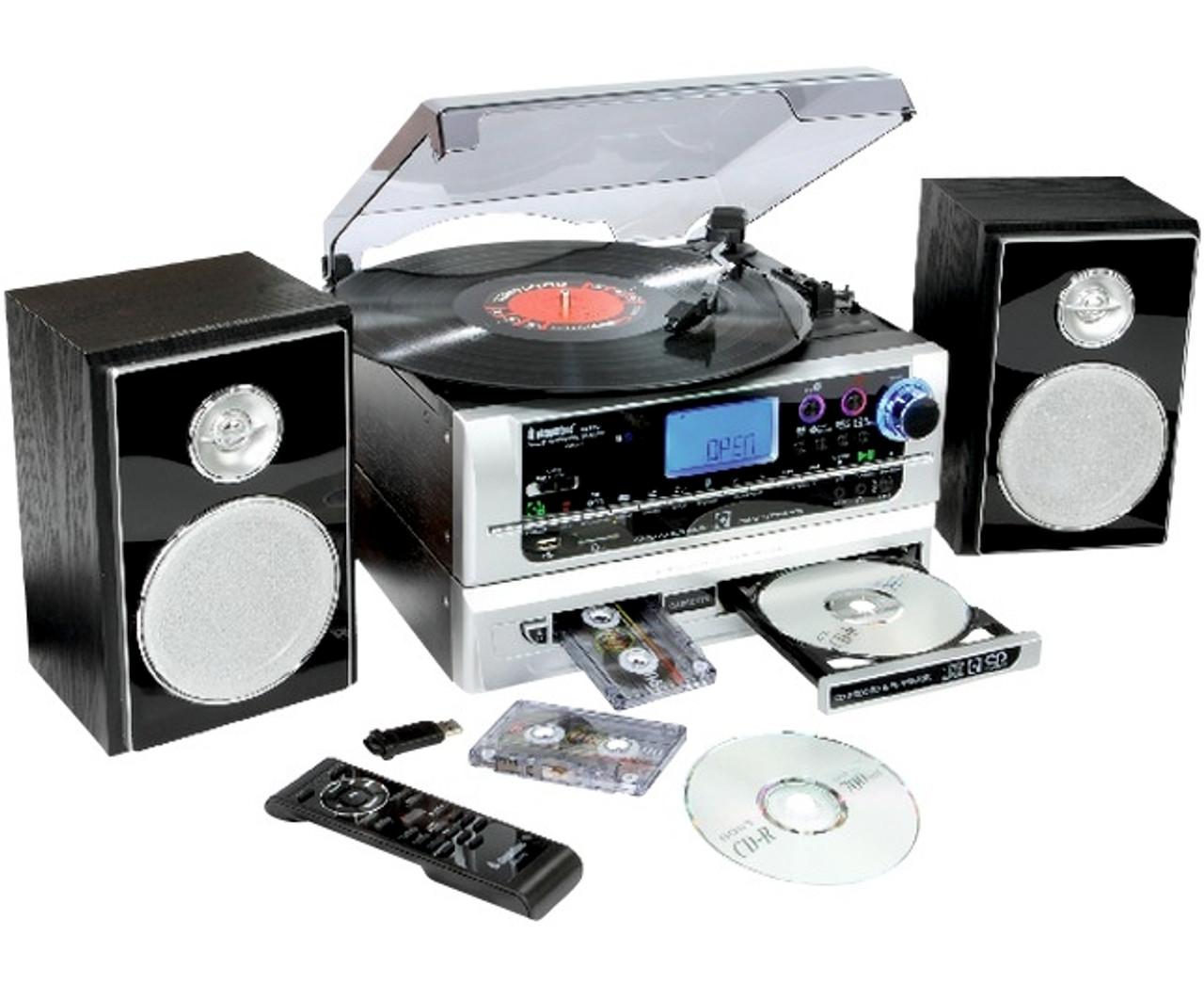 6-in-1 CD Burner Music System