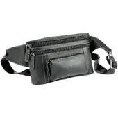 Leather Belt Bag, Black