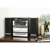 6-in-1 Music System with Double CD Burner