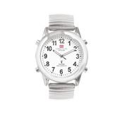 CHRONON Anthorn Atomic Talking Watch with Stainless Steel Expandable Strap