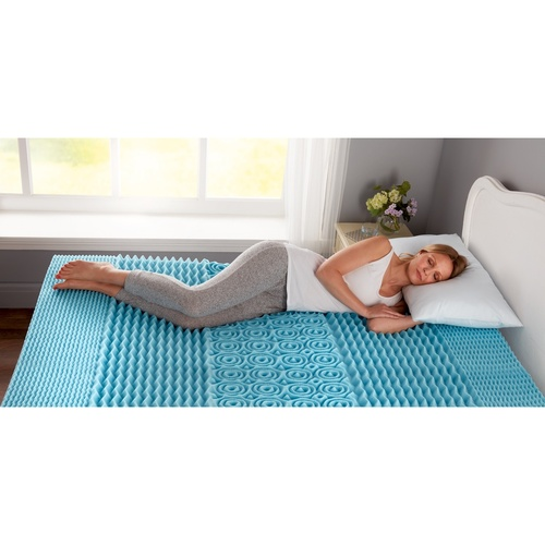 Cool Blue Air Flow Memory Foam 5-Zone Mattress Topper