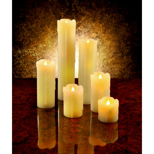 6 Authentic LED Wax Candles