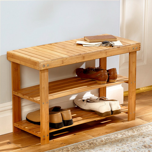 Bamboo Shoe Store Stand and Seat