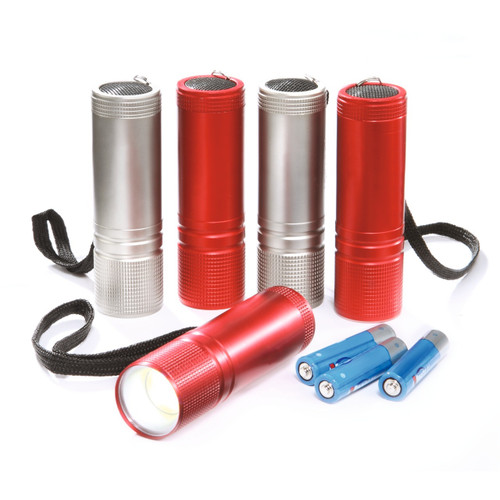 COB LED Pocket Torches - Pack of 5 With Batteries