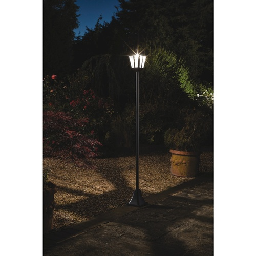 365-Day Solar Victorian-Style Garden Lamp Post