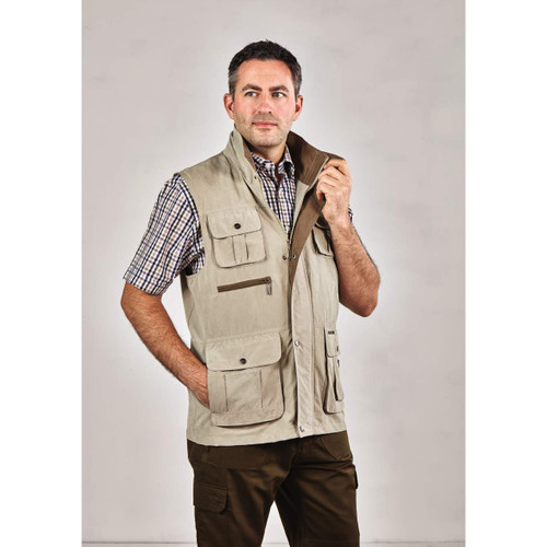 Lightweight, Water-Resistant Correspondent's Pocketed Jacket Waistcoat