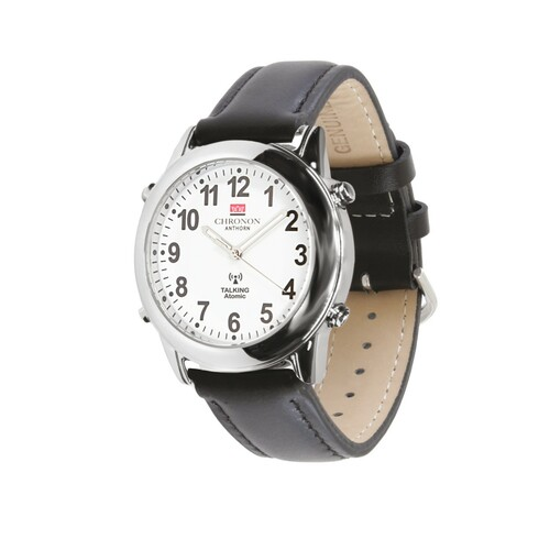 Chronon Atomic Talking Watch with Leather Strap