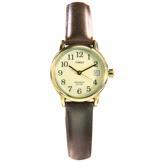 Leather Strap QuickDate Timex Watch