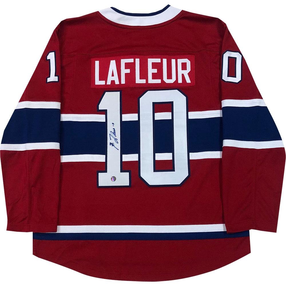 Guy Lafleur Autographed Montreal Canadiens Replica Jersey xHockeyProducts.ca Canada