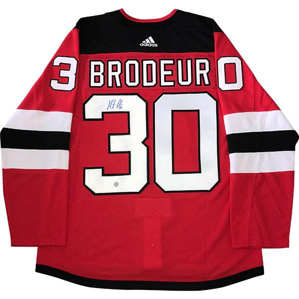 Martin Brodeur Autographed New Jersey Devils PRO Jersey xHockeyProducts.ca Canada