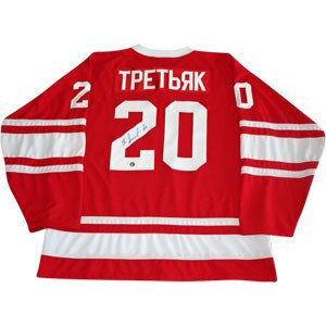 Vladislav Tretiak Autographed CCCP Replica Jersey
