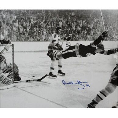 """Bobby Orr """"The Goal"""" Autographed Photo"""