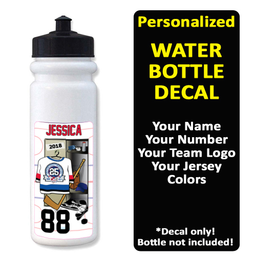 xDecals Water Bottle Label xHockeyProducts.ca Canada