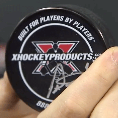 Bryce Salvador and Peter Ing Autographed Puck