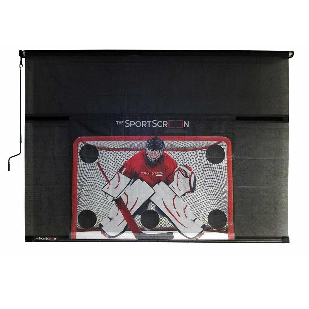 The SportScreen Manual Rollup Shooting Tarp xHockeyProducts.ca Canada
