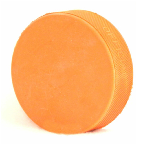 Orange Heavyweight 10oz Hockey Puck