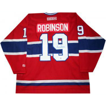 Larry Robinson Autographed Montreal Canadiens Replica Jersey xHockeyProducts.ca Canada