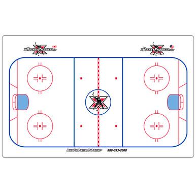 "Hockey Dry Erase Coach Board - Elite Suction Cup 15""x24"""