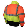 Radians SJ12 3 Weather Proof Multi-Color Bomber Jacket with Quilted Built-In Liner -BACK