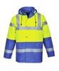 Hi-Vis Traffic Jacket - Hi-Vis Yellow/Royal Blue Bottom ## US466YRB ##