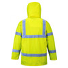PortWest US160 Class 3 Hi Vis Yellow Waterproof Traffic Jacket - BACK