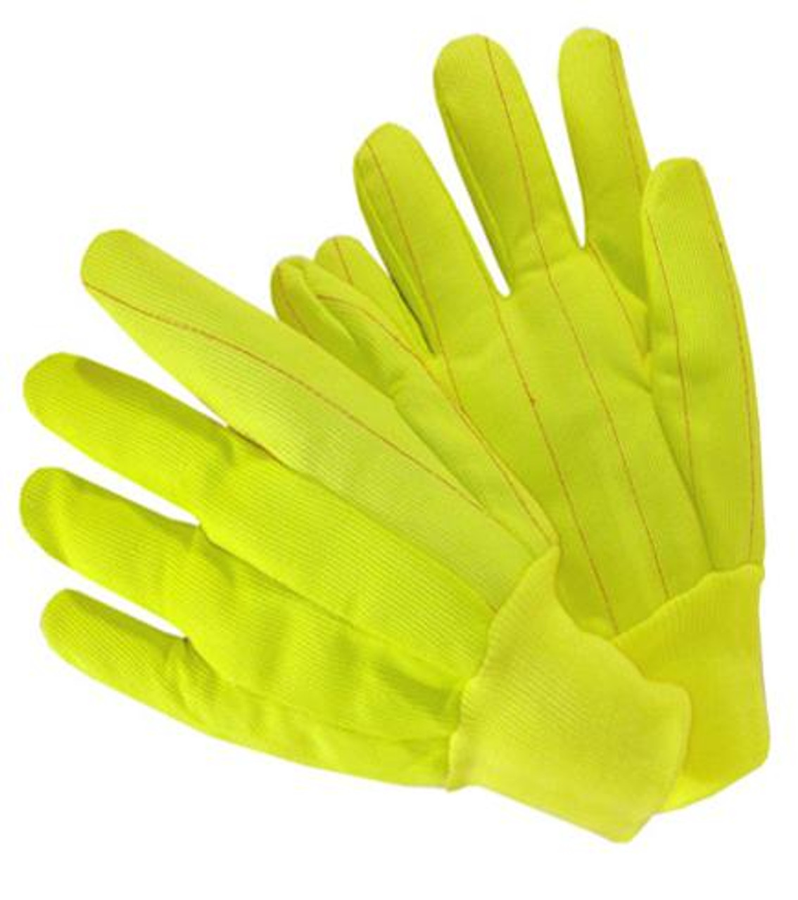 Durawear 20oz Nap-In Double Cotton poly Corded Knit Wrist Gloves Yellow