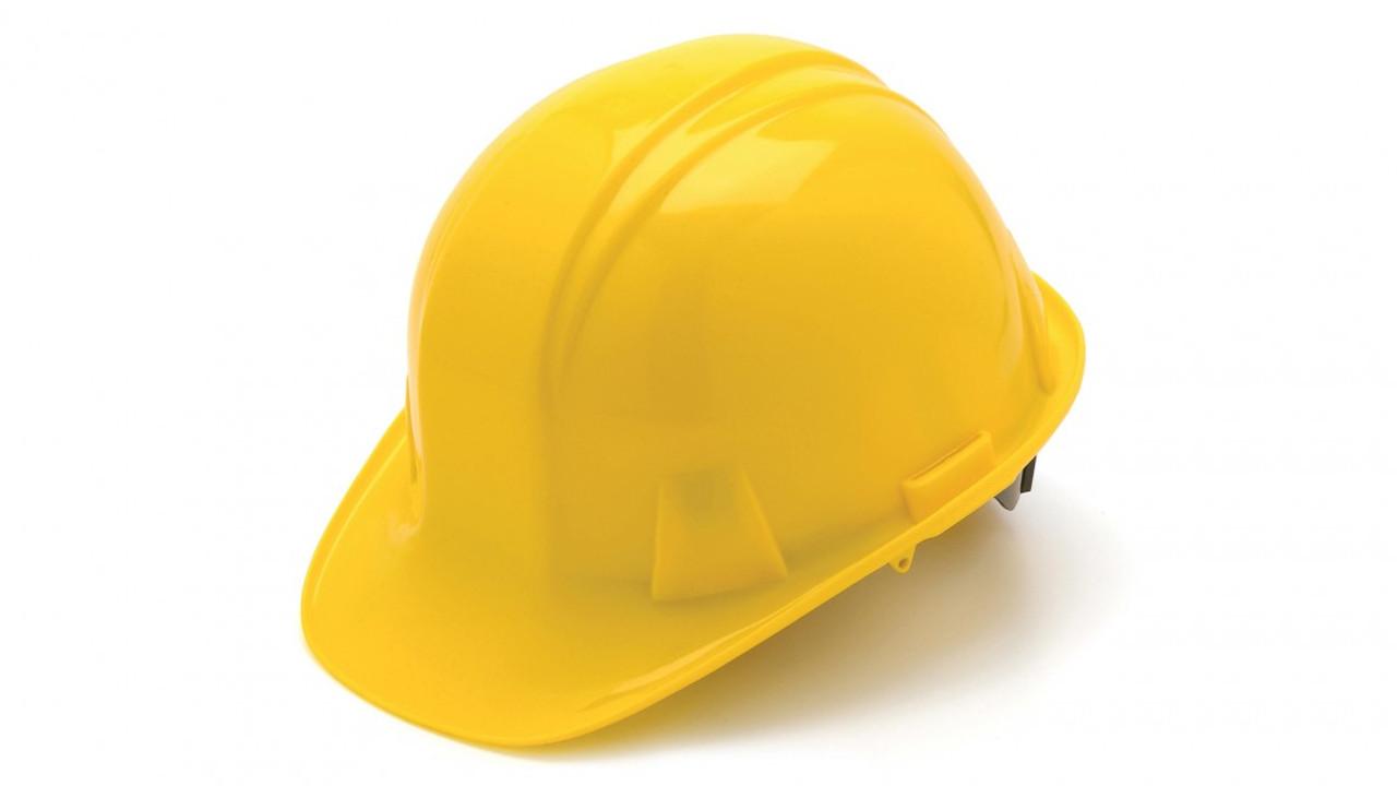 Pyramex® Cap Style Hard Hats - Yellow ##HP14110 ##