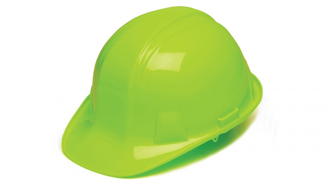 Pyramex® Cap Style Hard Hats - Lime Green