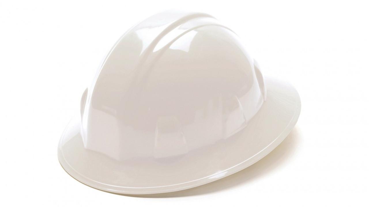 Pyramex® Full Brim Hard Hats - White