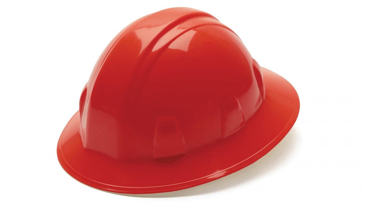 Pyramex® Full Brim Hard Hats - Red ## HP24110 ##