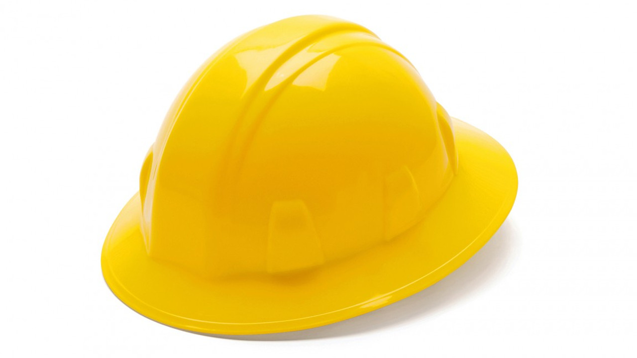 Pyramex® Full Brim Hard Hats - Yellow