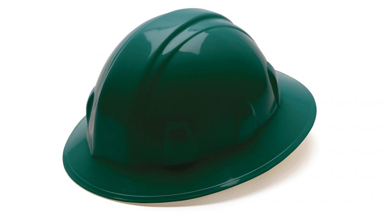 Pyramex® Full Brim Hard Hats - Green