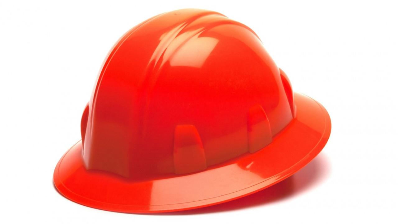 Pyramex® Full Brim Hard Hats - Red