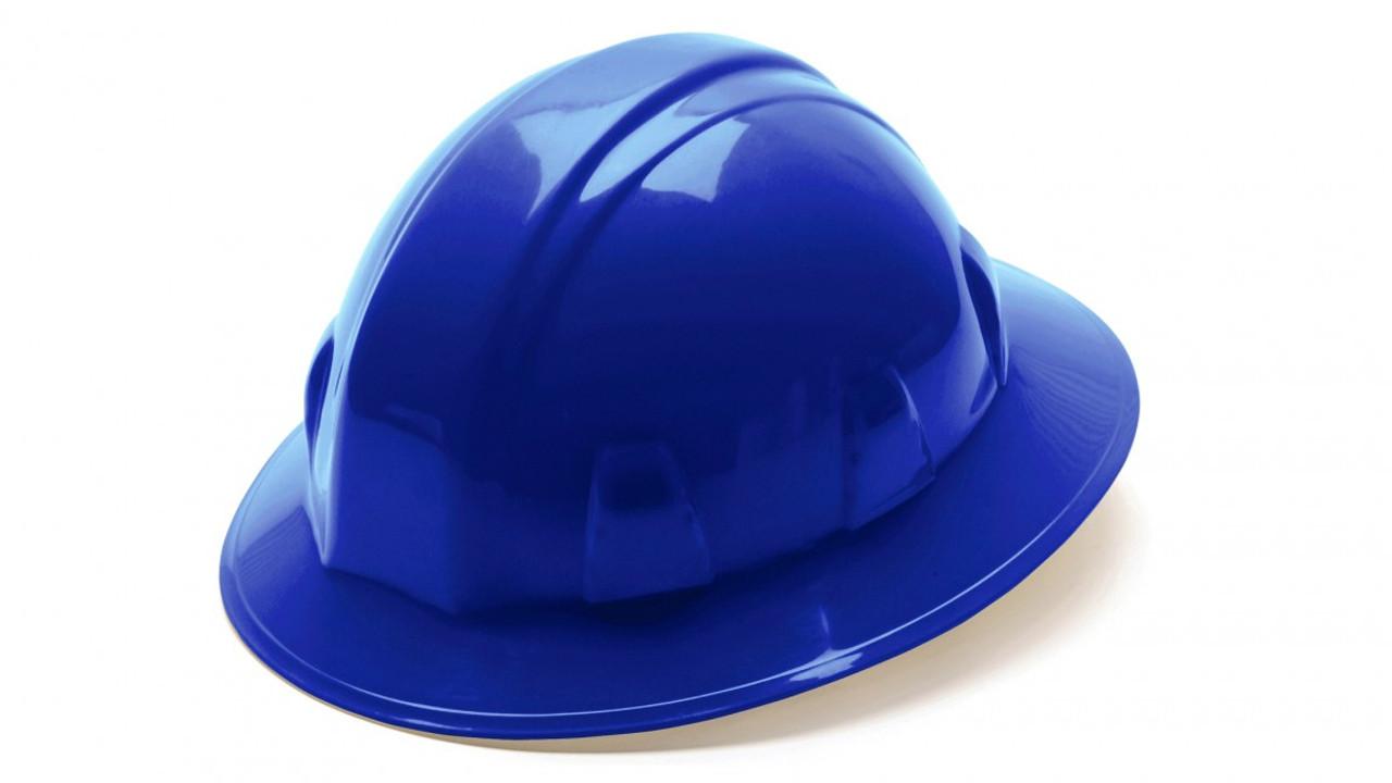 Pyramex® Full Brim Hard Hats - Blue