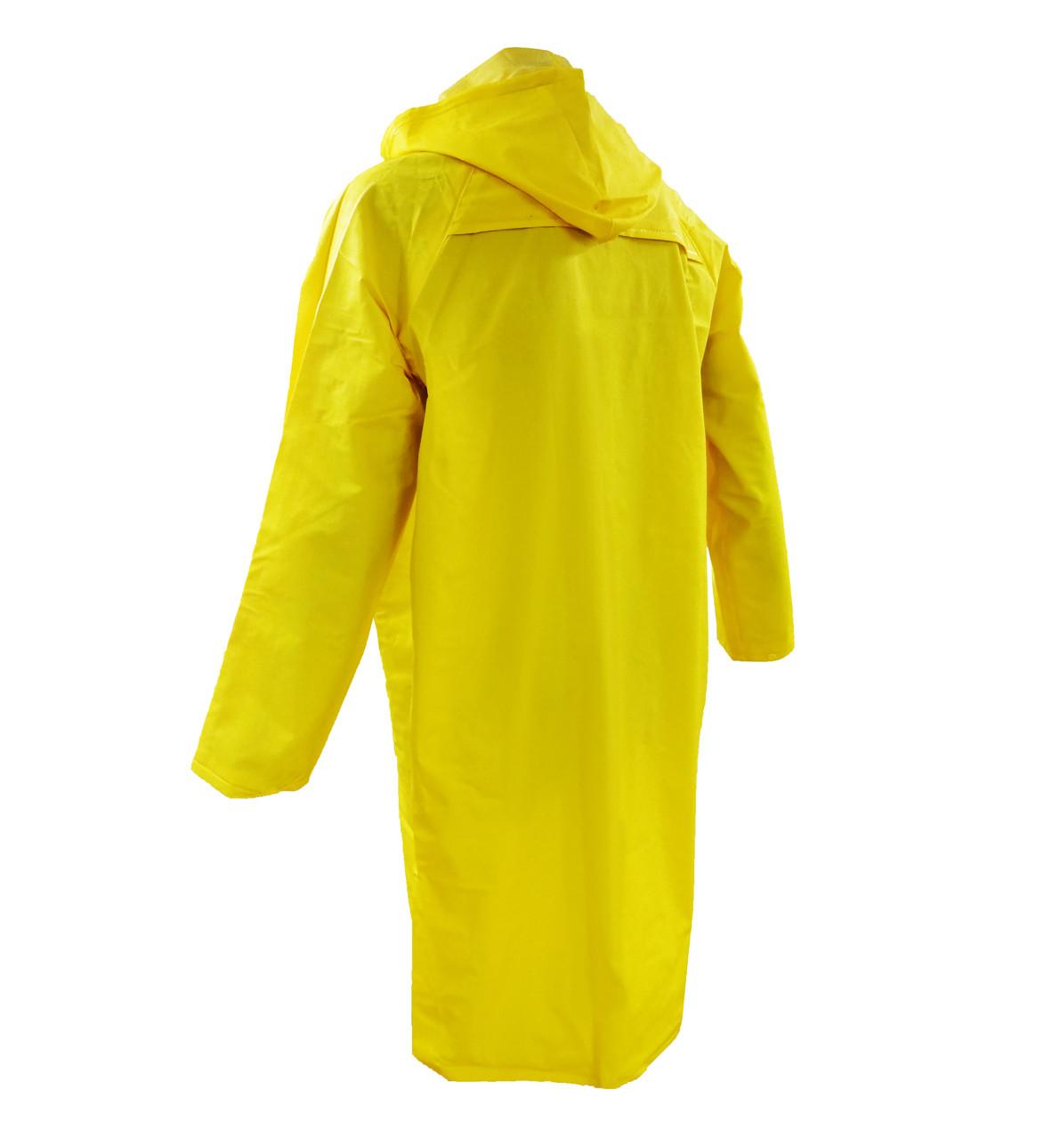 """Durawear® 48"""" Yellow PVC Coats Back"""
