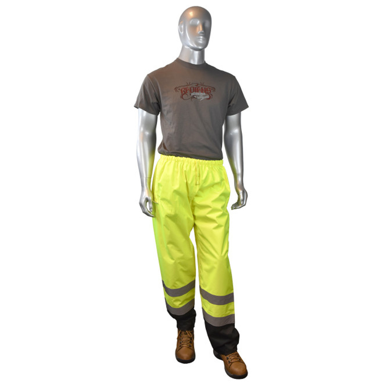Radians SP41 Class E Sealed Waterproof Safety Rain Pants - FRONT