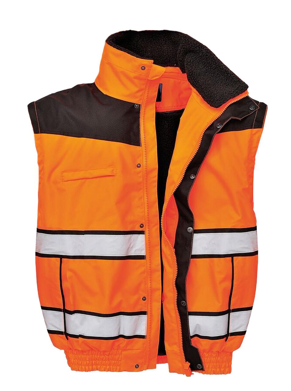 Hi-Vis Classic Bomber Jacket - Orange Vest