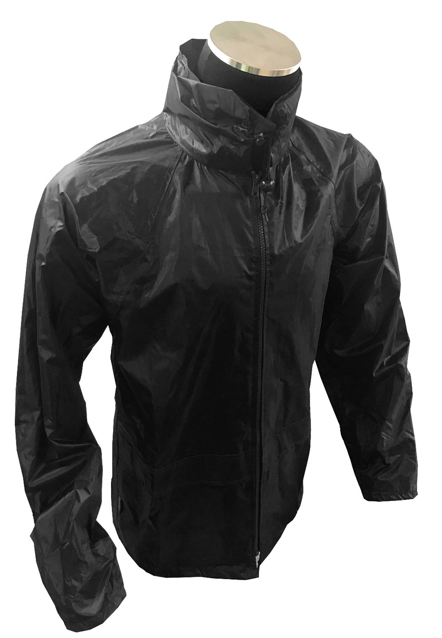 Portwest Classic Lightweight Rain Jacket - BLACK